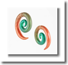 gauge copperGreen swirl hanging